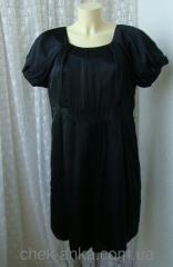 Платье женское черное шелковое мини бренд M&S