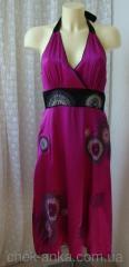 Платье модное летнее шелковое шикарное вышивка