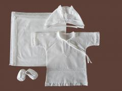 Baptismal clothes from kryzhmy. Beauty model