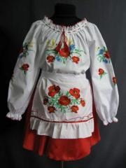 """Suit Ukrainian for the girl """"Voloshkov"""