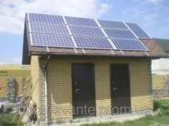 Autonomous solar power station of 2 kW for power