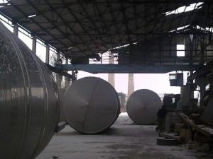 Tanks 10-50 cubic meters, food from stainless