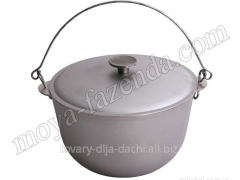 Cauldron aluminum tourist with a cover of 6 liters