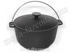 Pig-iron cauldron with a pig-iron cover 6 l (R-123