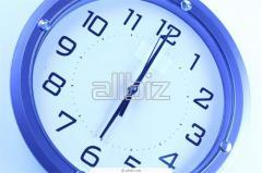Wall clock. Hours in assortmen