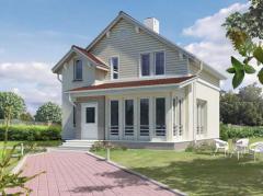 Дома каркасные деревянные Дом по канадской технологии. Панельное домостроение. Дома каркасные деревянные