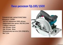 Пила дисковая ПД-185/1500