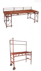 Table scaffolding for the bricklayer. Producer