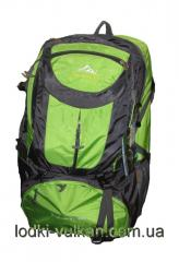 Backpack of tourist 55 liters with orthopedic back