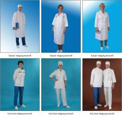 Overalls. Medical clothes. Smock frocks. Suits are