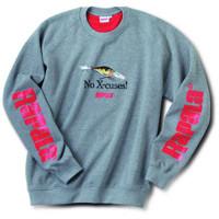 The Rapala X-RAP sweater is gray