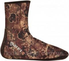 Socks for surfing of Mares Camo Brown of 3 mm the