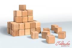 Кубики игровые деревянные, изготовление деревянной