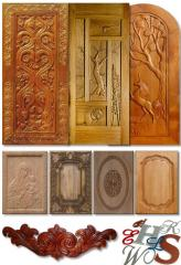 Carved door panels, production of exclusive carved