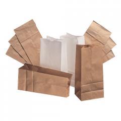 Пакеты бумажные с прямоугольным дном