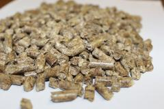 Wood fuel granules