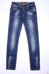 Stylish jeans for the girl of blue color.