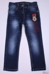 Stylish jeans for the girl with Mickey Mouse