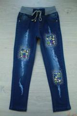 Jeans for the girl of blue color