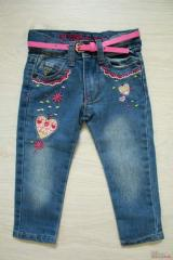 Jeans with an embroidery for the girl