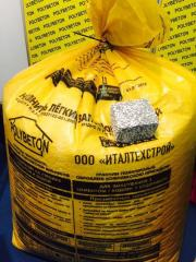 Filler for polysterene concrete / the Processed