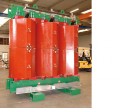 Dry transformers with cast isolation from