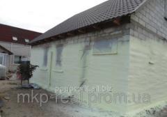 Утепление стен и перекрытий напылением