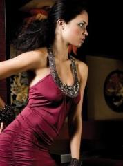 Вечернее платье с имитацией ожерелья FP-220268