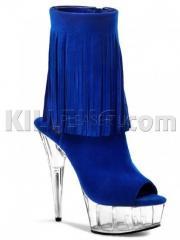 Замшевые ботинки с бахромой Delight-1019