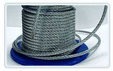The rope zinced in PVC corrosion-proof