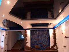 Mirror stretch ceilings Kherson Ukraine