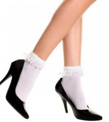 Нейлоновые носочки с оборкой сверху ML-527