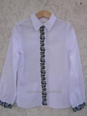 Shirt embroidered with classical
