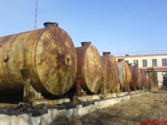 Reservoirs, tanks, new and second-hand 5, 10, 25,