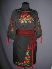 The chemise embroidered and plakhta
