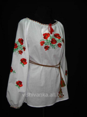 "Blouse female embroidered ""Makov the"