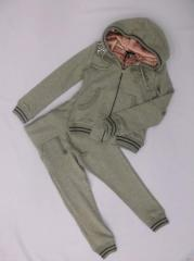 Puledro sports suit for the girl gray