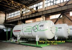 Capacity for storage and delivery of the liquefied