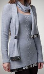 Tunic with a scarf 0118