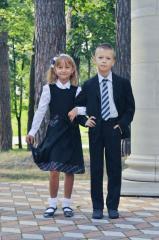 Jacket dark blue, school for the boy