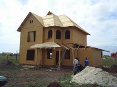 Строительство дачи. Каркасно-панельная технология. Канадский дом