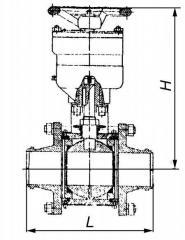 11nž95p ball valve dn100