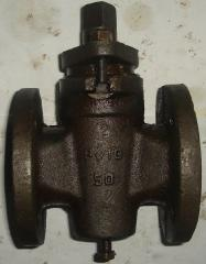 Cast iron flanged cock p/s 11č8bk Dn40, dn50,