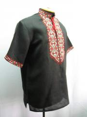 Men's shirt, embroidery, flax