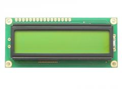 The LCD LCD1602 display with blue/yellow