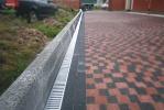 Border concrete road Chernivtsi Ukraine