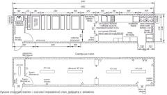 Модуль Кухня-столова розм. 12000х2500 мм