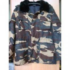Pea jacket camouflage with hood