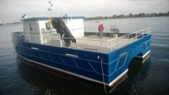Многоцелевое судно-катамаран - стальной...