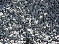 Crushed stone construction road